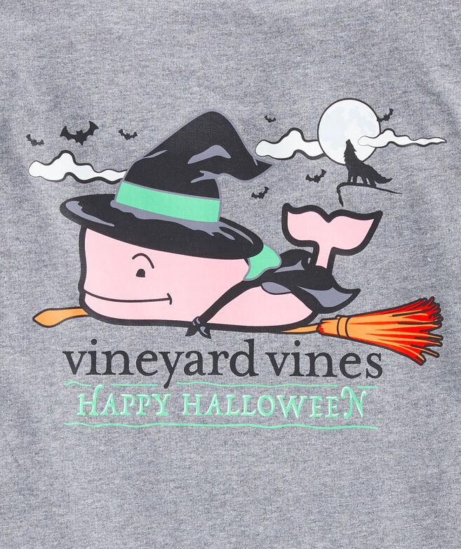 Girls' Halloween Witch Whale Long-Sleeve Pocket Tee