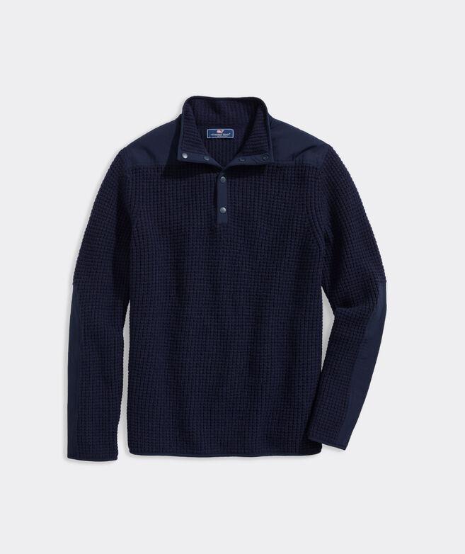 Wool Snap Placket Shep Sweater