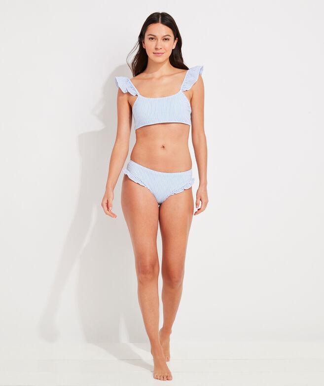 Seersucker Ruffle Bikini Bottom