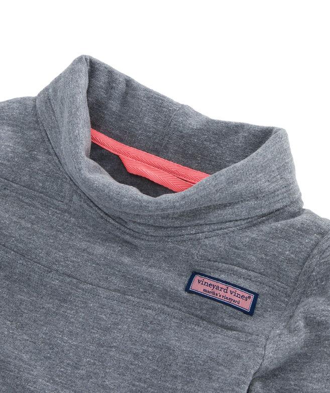 Girls Tri-Blend Brushed Back Funnel Neck Shep Shirt