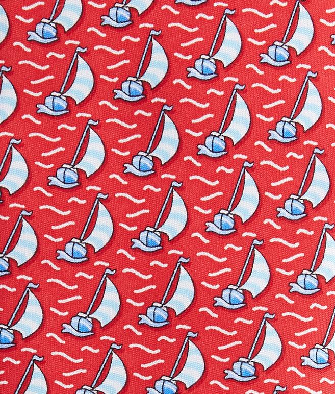Boys Sailboat Printed Tie