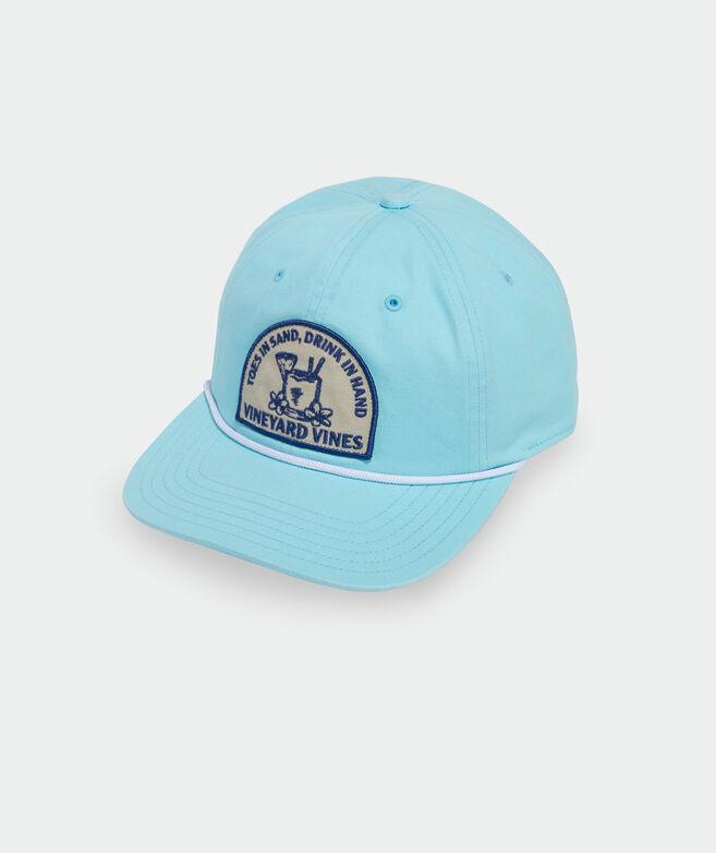 Tropical Drink Flat Brim Baseball Hat