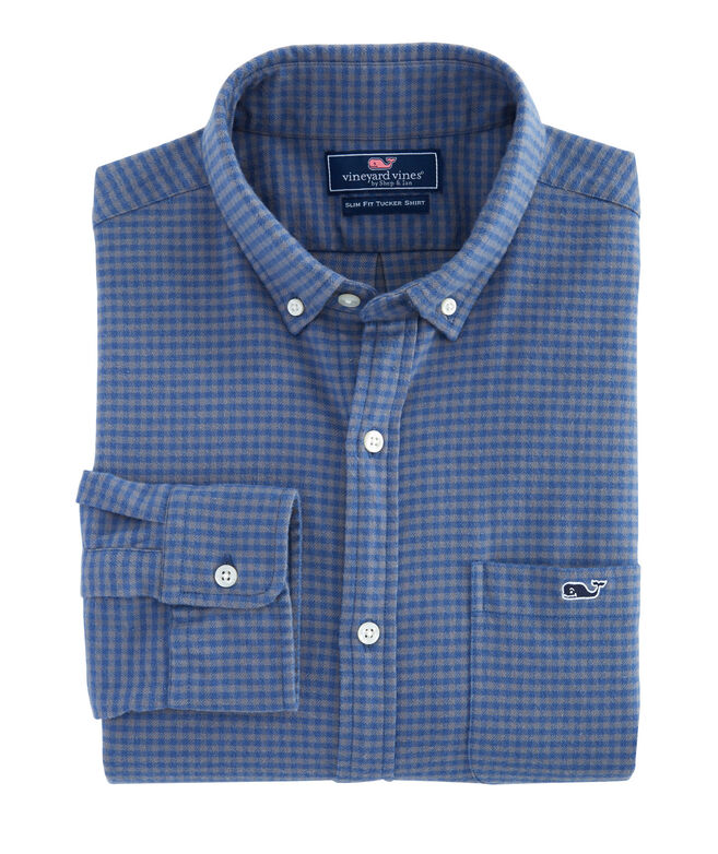 Slim Tradewinds Flannel Tucker Shirt
