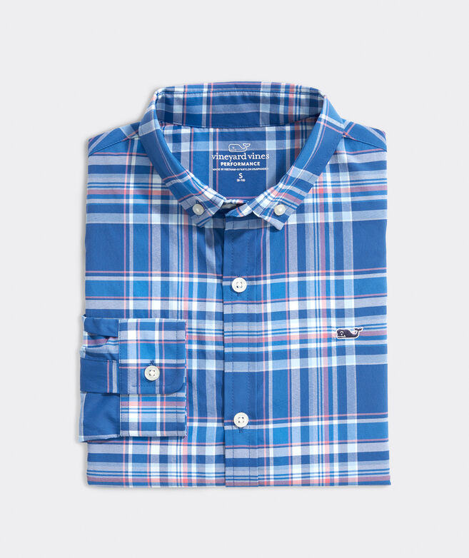 Boys' Palmo On-The-Go Performance Whale Button-Down Shirt