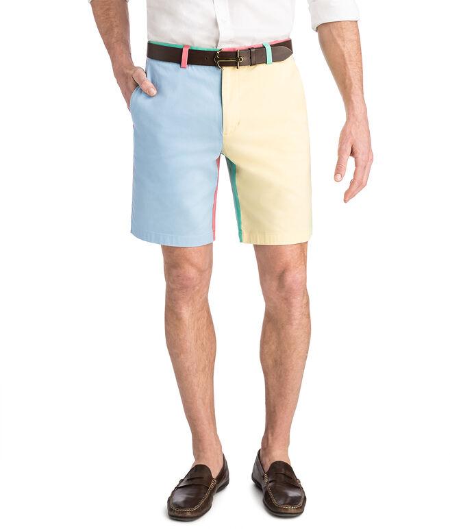 9 Inch Paneled Party Shorts