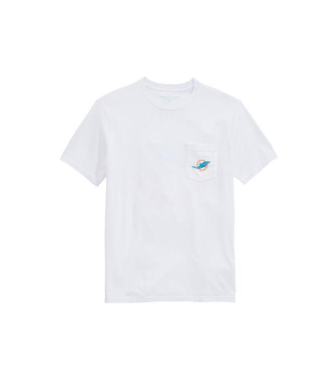 Miami Dolphins Block Stripe Tee