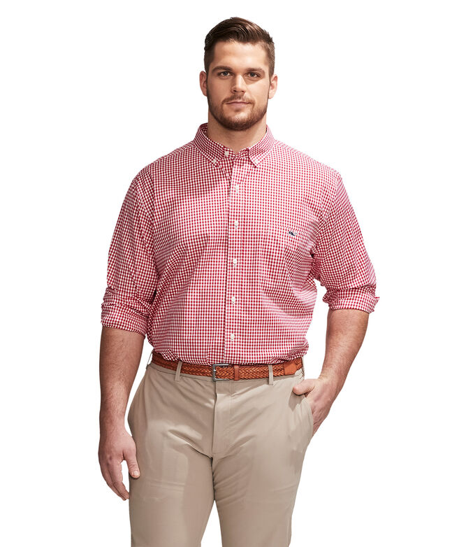 Big & Tall Arawak Gingham Classic Fit Tucker Shirt