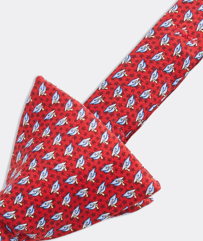 Graduation Caps Printed Bow Tie