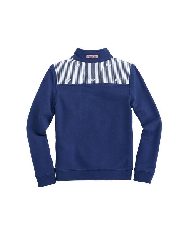 Girls Classic Stripe Embroidered Shep Shirt
