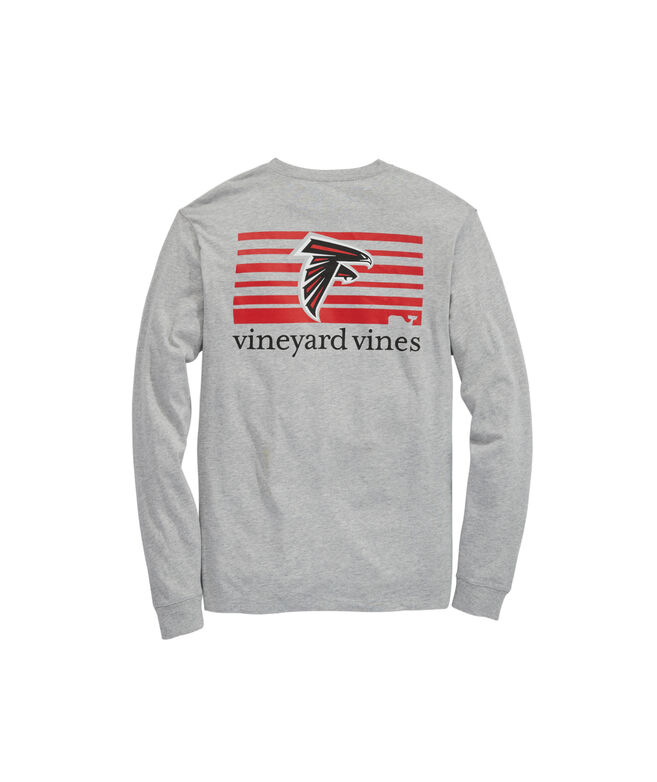Atlanta Falcons Long-Sleeve Block Stripe Tee