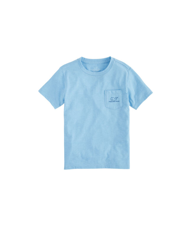 Boys Vintage Whale Island Ringer Pocket T-Shirt