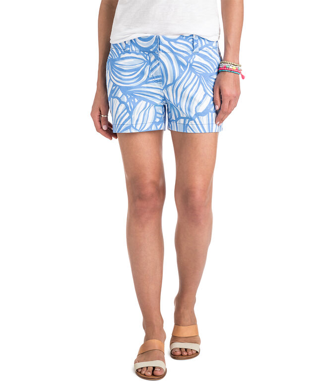 3 1/2 Inch Nautilus Shell Printed Every Day Shorts
