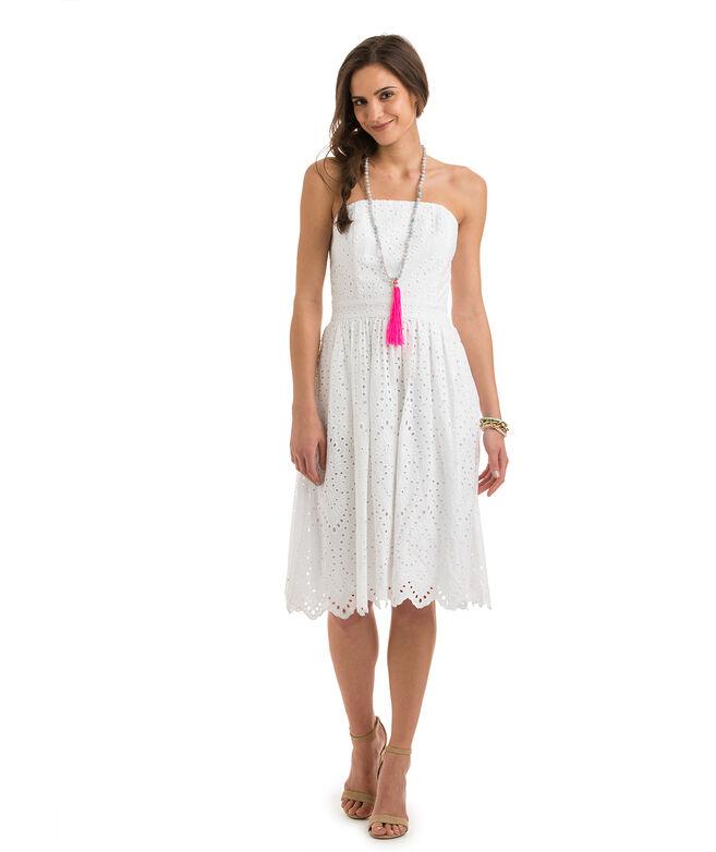 Awesome Nine West Sleeveless Cotton Eyelet Dress In White  Lyst