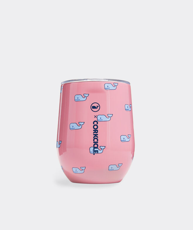 Pink Whale Corkcicle Stemless