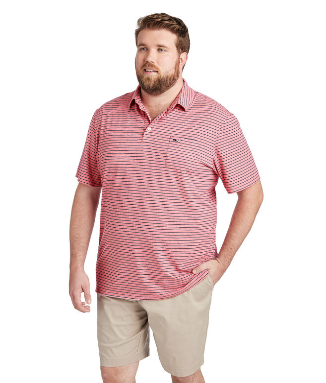 Edgartown Tri-Color Stripe Polo