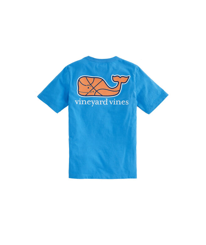 Boys Basketball Character Whale Pocket T-Shirt