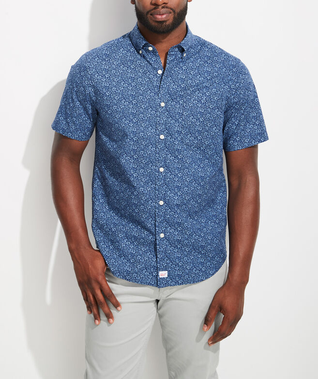 Classic Fit Waterway Murray Short-Sleeve Button-Down Shirt