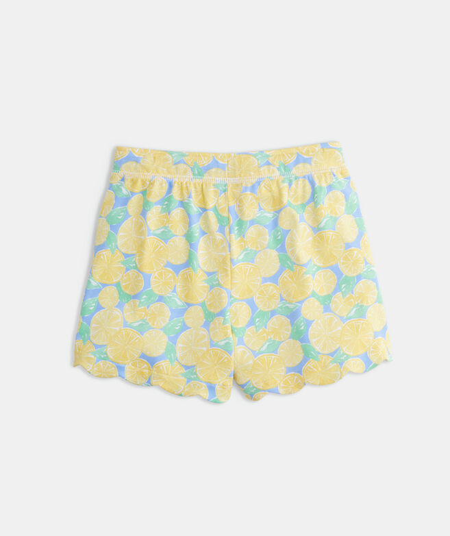 Girls' Scallop Knit Shorts