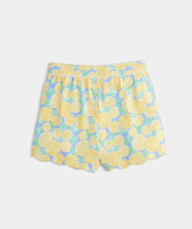 Girls' Scallop Knit Shorts