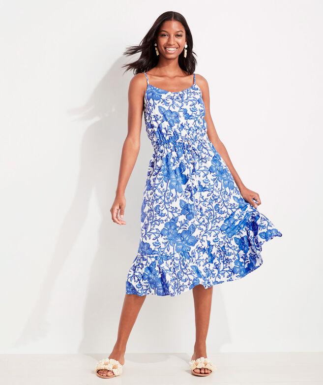 Morada Floral Midi Dress