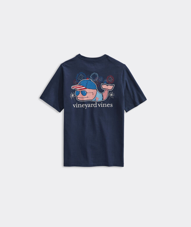 Boys' Fourth of July Whale Short-Sleeve Pocket Tee