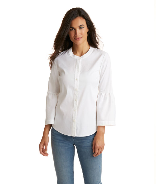 Classic Poplin Stretch Button Down