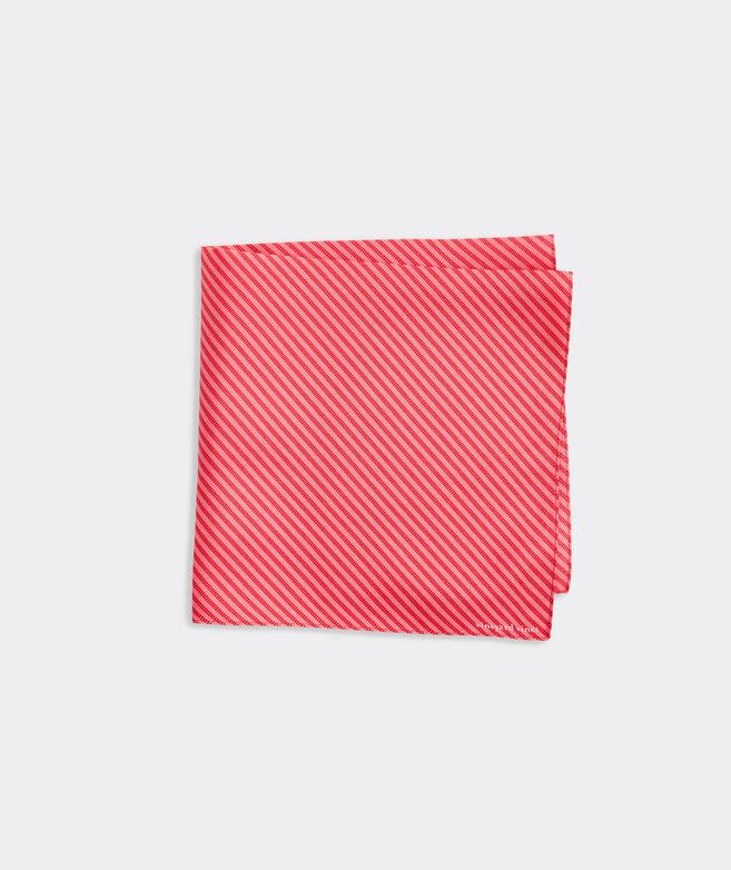Tonal Hatched Stripe Printed Pocket Square