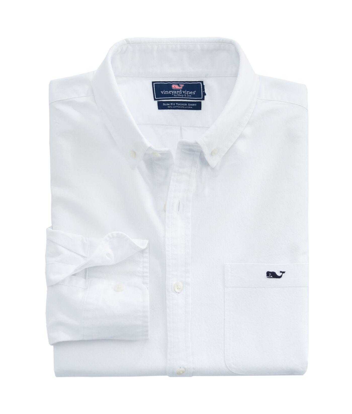 Solid White, X-Large Vineyard Vines Slim Fit Whale Shirt