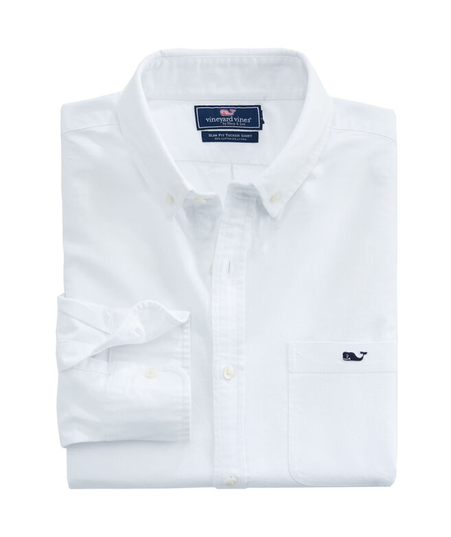 Slim Fit Solid Oxford Tucker Shirt