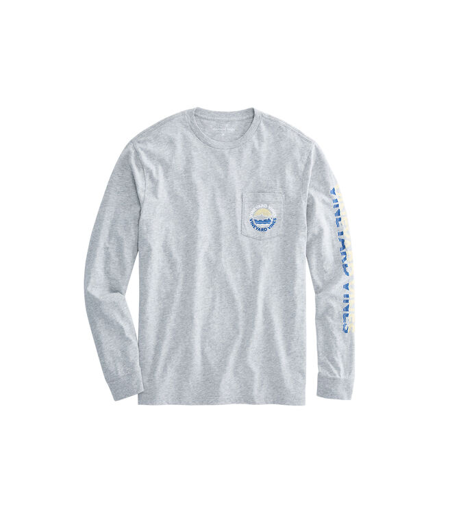 Long-Sleeve Bonefish Sunset Dot Pocket T-Shirt