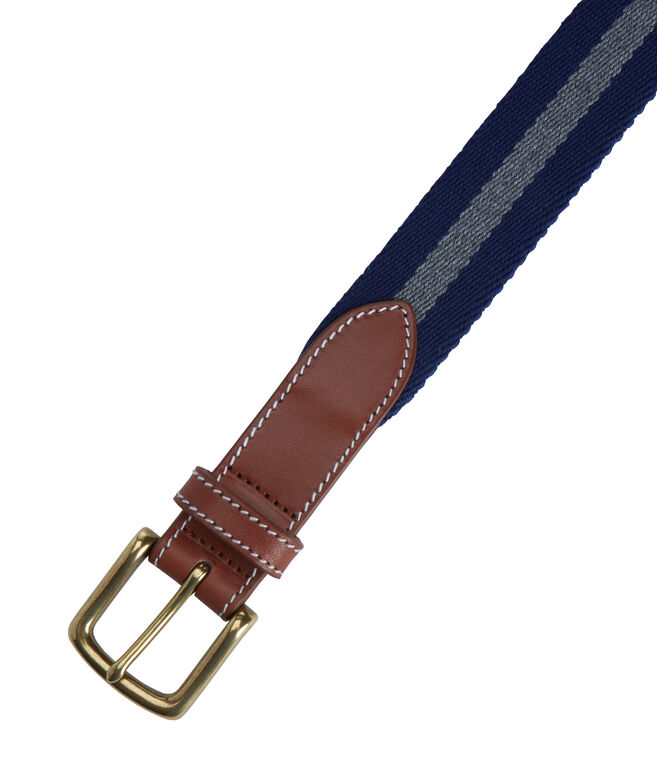 Heathered Wool Canvas Club Belt