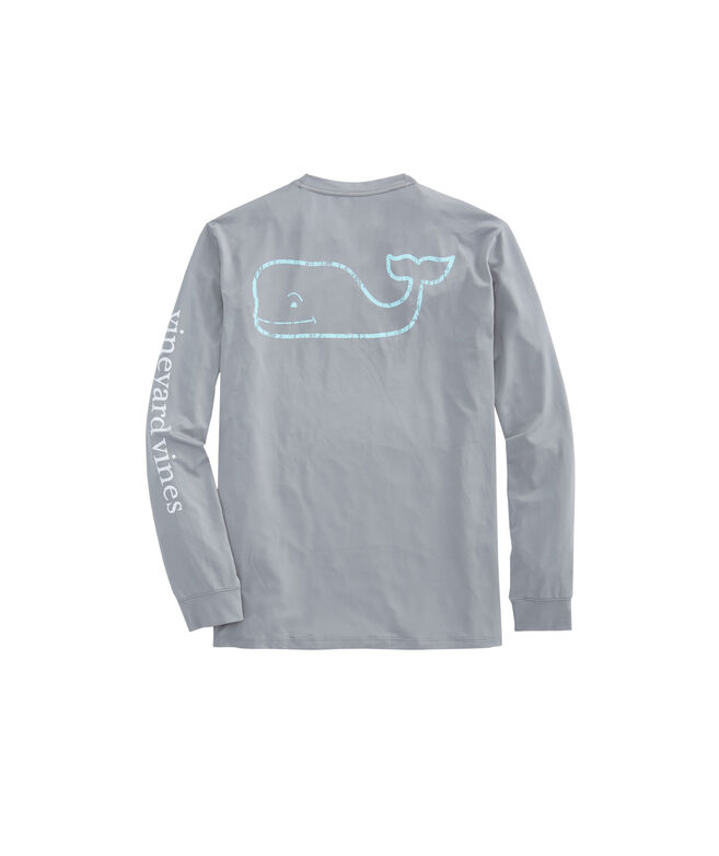 Long-Sleeve Performance Two Tone Vintage Whale T-Shirt