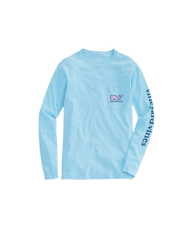 OUTLET Women's Vineyard Whale Fill Long-Sleeve Pocket Tee