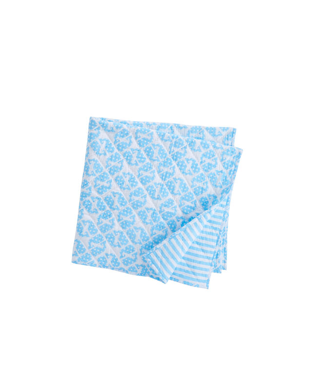 Reversible Puzzle Whale Baby Blanket