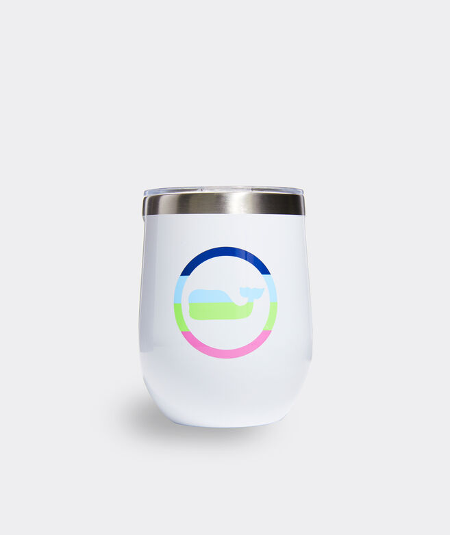 Neon Whale Dot Corkcicle Stemless