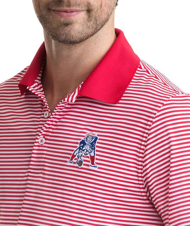 New England Patriots Throwback Icon Porter Stripe Polo