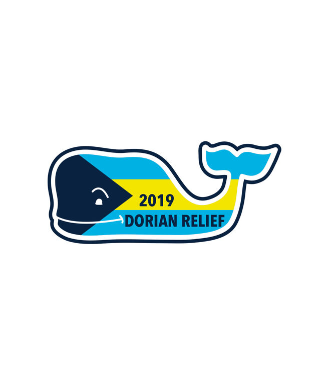 Bahamas Hurricane Dorian Relief Whale Sticker