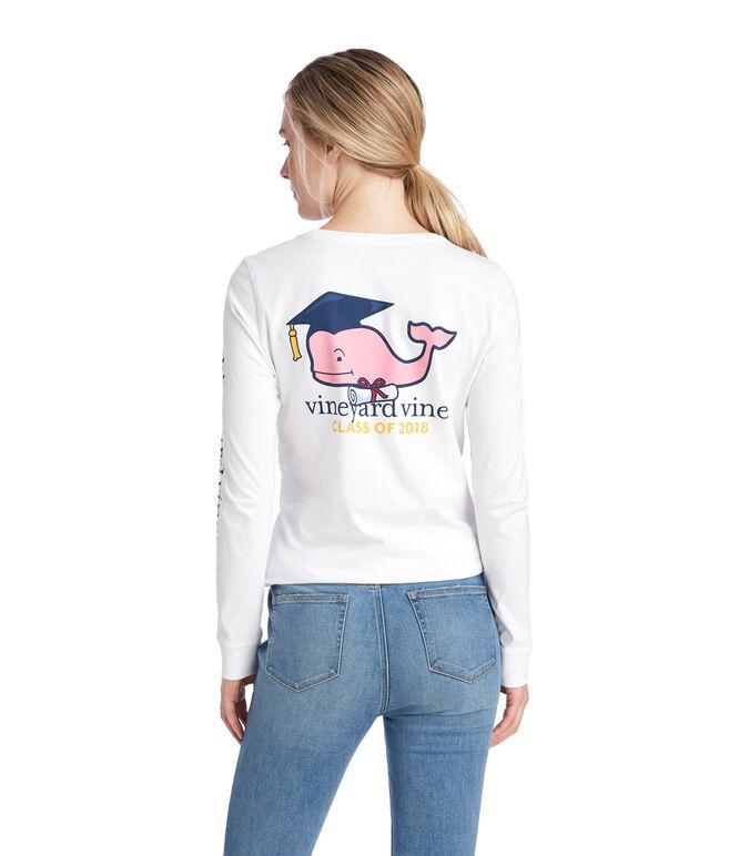 Womens Long-Sleeve Graduation Whale 2018 Pocket Tee