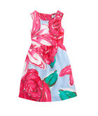 Girls Run For The Roses Printed Derby Dress