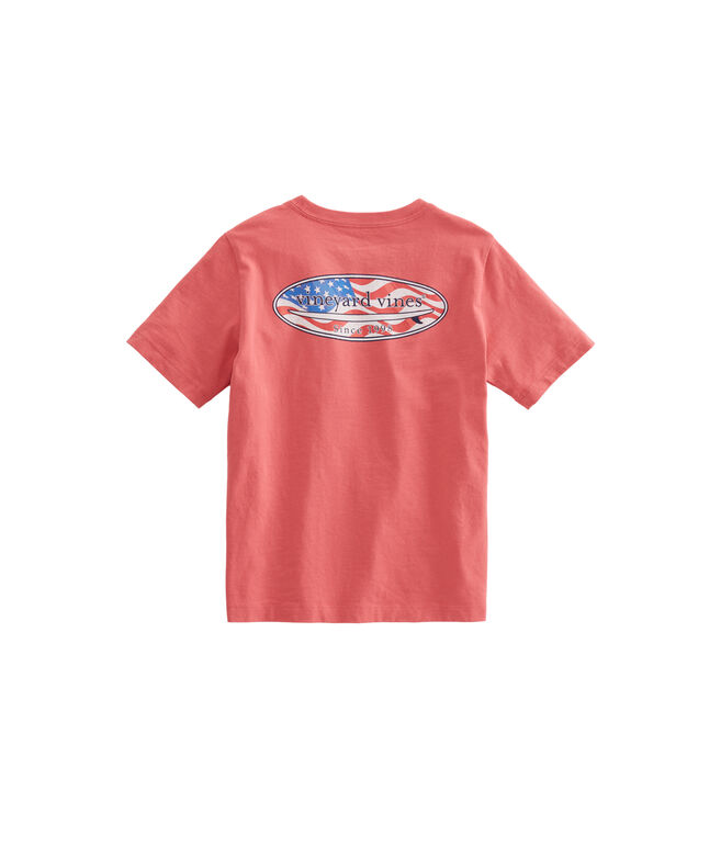Boys USA Surf Logo Pocket T-Shirt