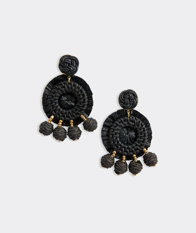 Rattan Raffia Earrings