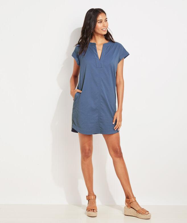 Harbor Seersucker Tunic Dress