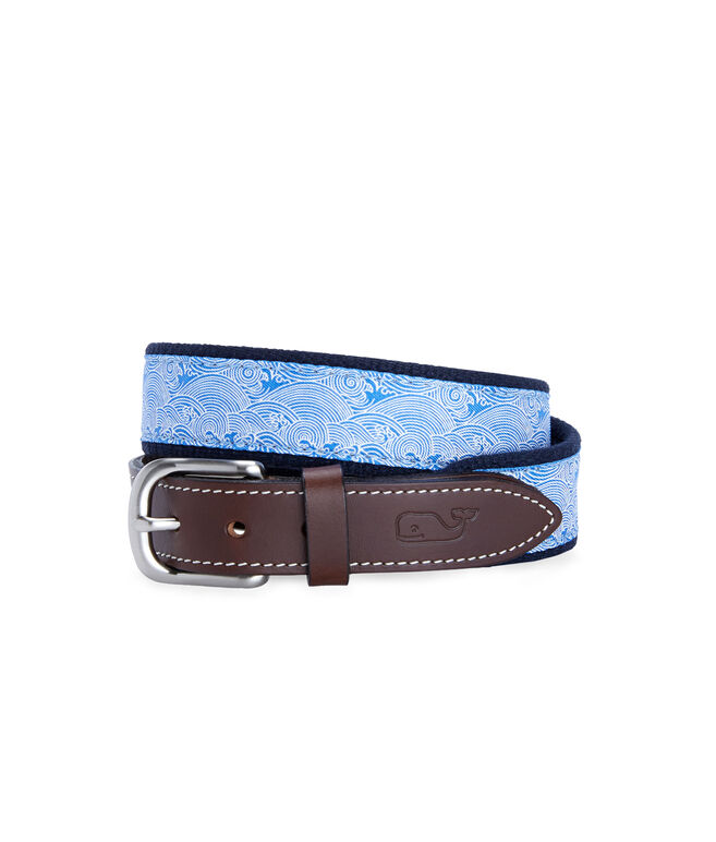 Boys Wave Canvas Club Belt