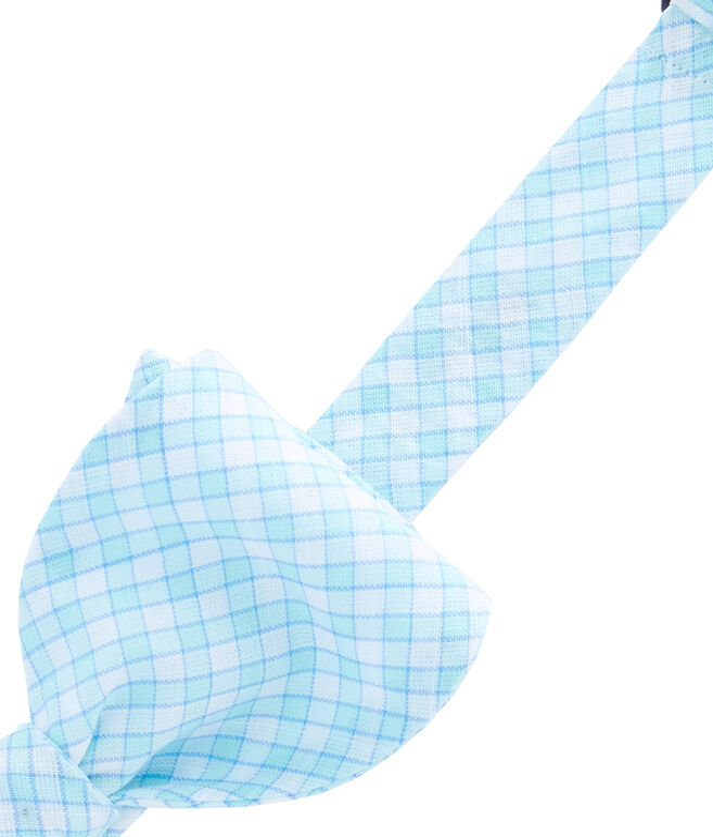 Main Mast Check Woven Bow Tie