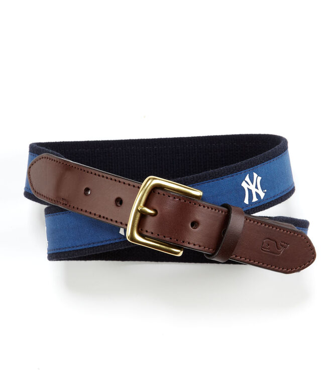 New York Yankees Canvas Club Belt