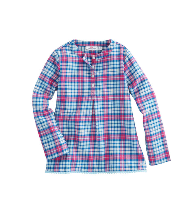 Girls Piper Plaid Flannel Popover