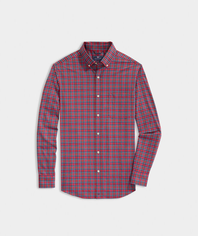 Classic Fit Tartan On-The-Go Shirt in Performance Nylon