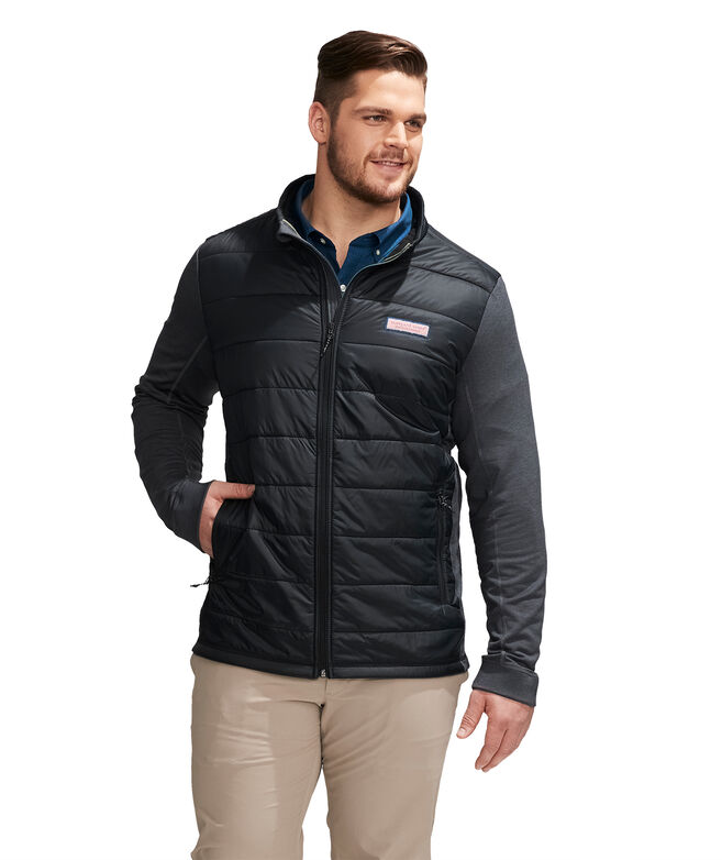 Big & Tall Hybrid Full-Zip Jacket