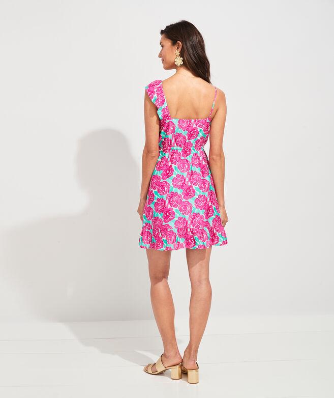 Painted Rose Ruffle Dress
