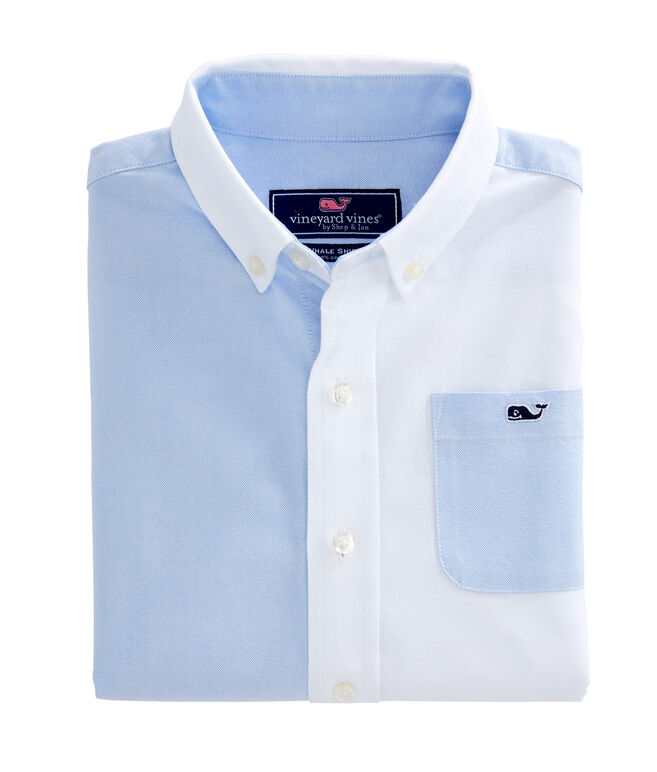 Boys Party Whale Oxford Shirt
